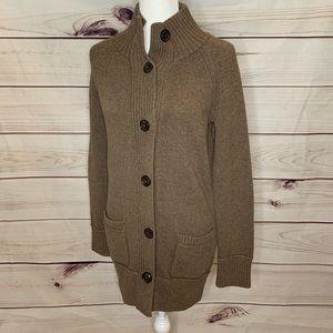 Eddie Bauer • button up cardigan tall medium